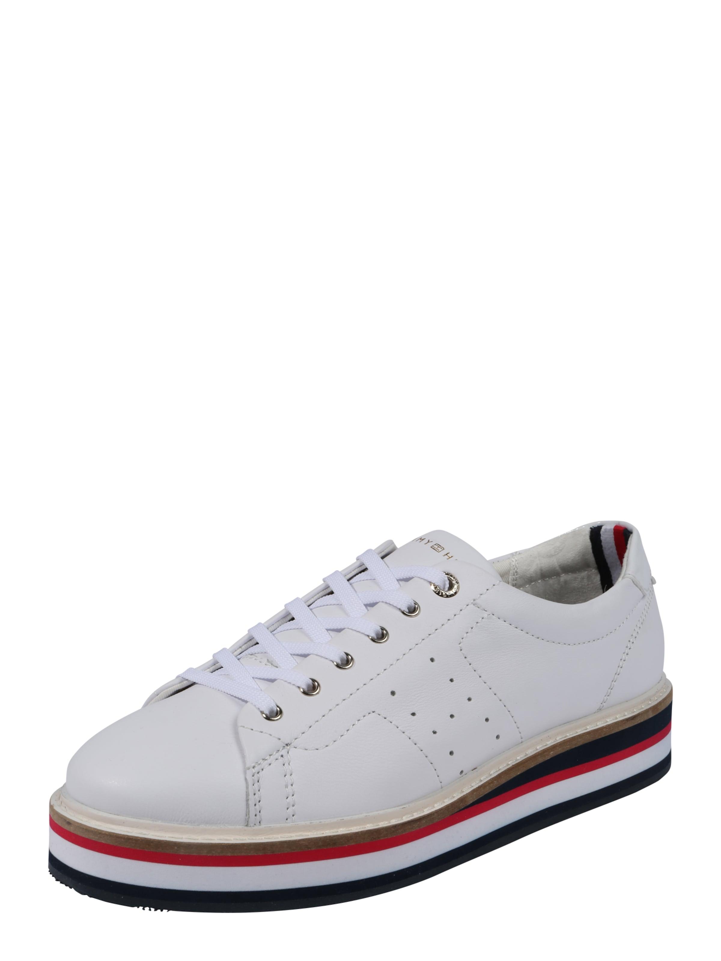 HILFIGER Leder aus Sneaker TOMMY TOMMY HILFIGER Sneaker qnXxA1wYt