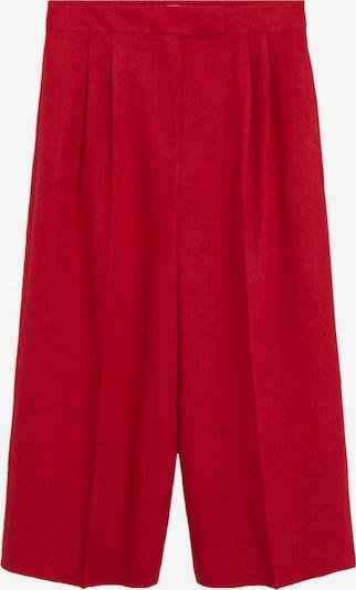 MANGO Pantalon à plis 'Tempoli' en rouge, Vue avec produit