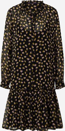 LAUREL Vestido camisero en mezcla de colores / negro, Vista del producto