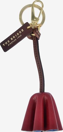 The Bridge 'Florentin' Schlüsselanhänger Leder 5 cm in braun / rot, Produktansicht