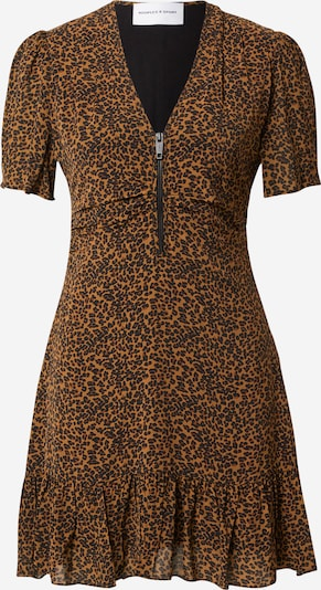 THE KOOPLES SPORT Sukienka 'ROBE' w kolorze brązowy / czarnym: Widok z przodu