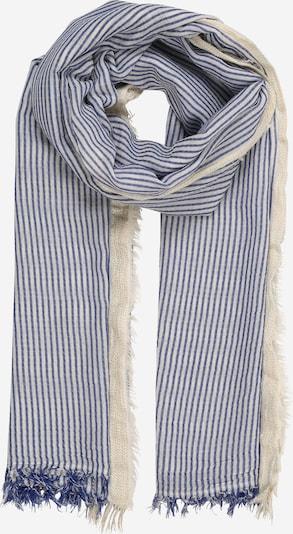 Zwillingsherz Schal in blau / weiß, Produktansicht