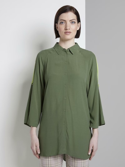 TOM TAILOR DENIM Bluse in oliv, Modelansicht