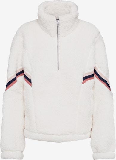 Abercrombie & Fitch Bluzka sportowa 'BTS19-CHEVRON SHERPA 1/2 ZIP 3CC $68' w kolorze białym, Podgląd produktu
