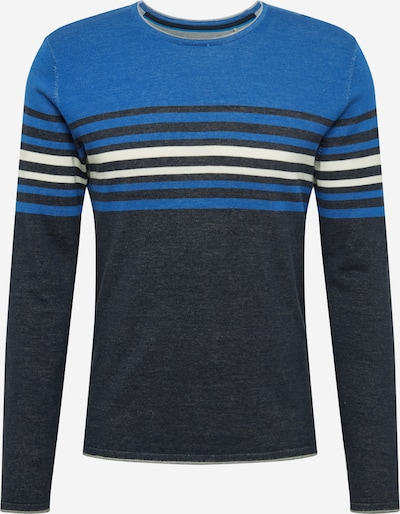EDC BY ESPRIT Pullover in blau / offwhite, Produktansicht