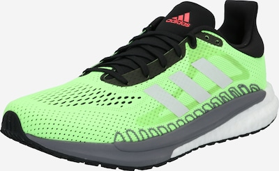 Scarpa da corsa ADIDAS PERFORMANCE di colore grigio / verde neon / nero, Visualizzazione prodotti
