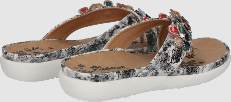 RIEKER Pantolette Fancy Verschleißfeste billige Schuhe
