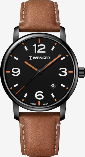 WENGER Uhr 'Urban Metropolitan' in braun / schwarz, Produktansicht