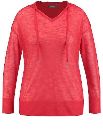 SAMOON Pullover mit Kapuze in rot, Produktansicht
