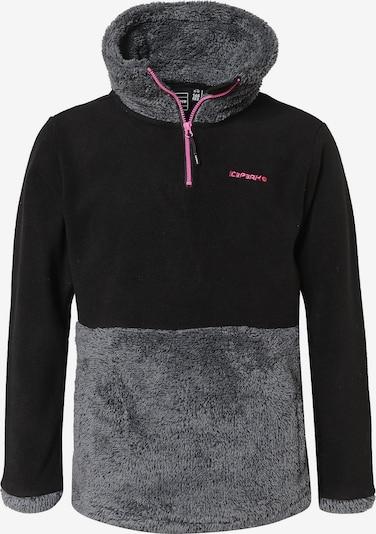 ICEPEAK Fleecejacke 'Lingen' in grau / schwarz, Produktansicht