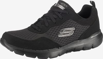 SKECHERS Sneaker 'Flex Appeal 3.0' in basaltgrau / schwarz: Frontalansicht