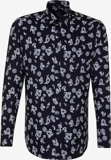 SEIDENSTICKER Hemd in aubergine / schwarz / weiß, Produktansicht