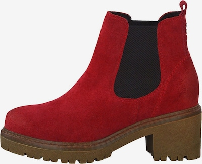 MARCO TOZZI Chelsea Boot in rot / schwarz: Frontalansicht