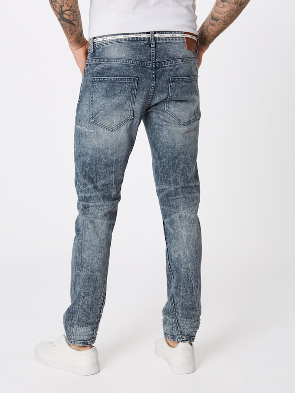 tigha Jeans 'Billy the kid 9943 patched' in blue denim: Rückansicht
