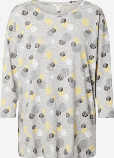 ESPRIT Majica u žuta / svijetlosiva / crna / bijela, Pregled proizvoda