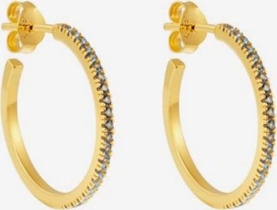 ID Fine Ohrringe 'Blue Simplicity' in hellblau / gold, Produktansicht