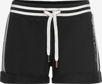 BENCH Sweatshorts in schwarz / weiß, Produktansicht
