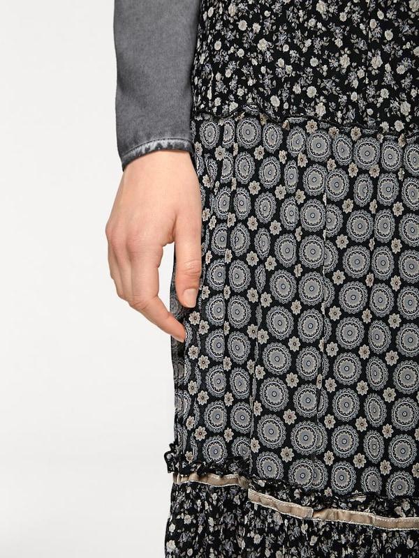 Linea Tesini By Heine Print Skirt With An Elastic Waist Band