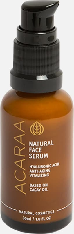 ACARAA Naturkosmetik Gesichtsserum Natural Face Serum 30ml in braun, Produktansicht
