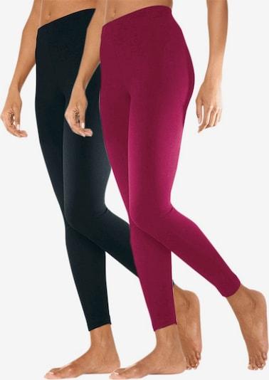 VIVANCE Leggings in himbeer / schwarz, Produktansicht
