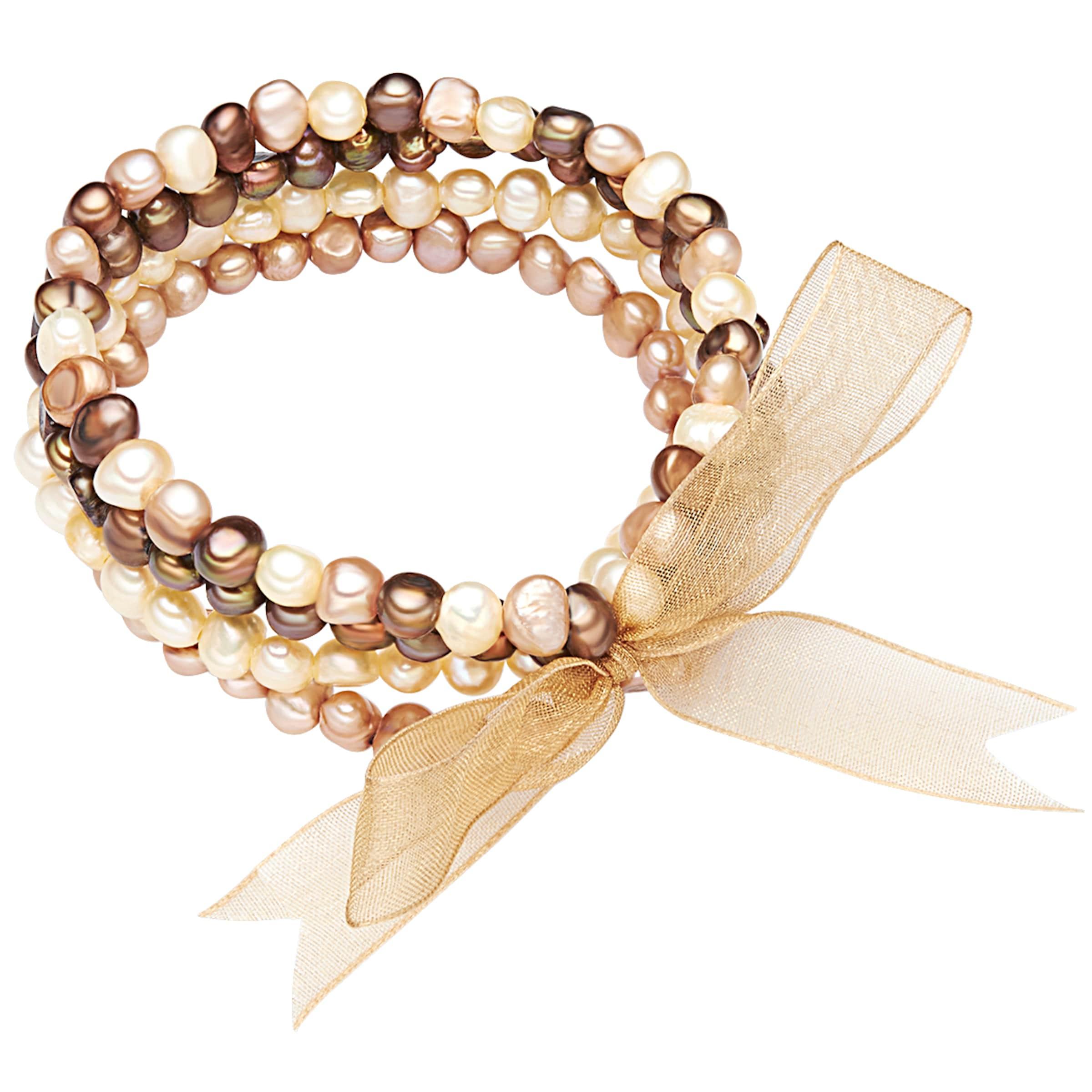 Günstig Kaufen Bequem Tolle Valero Pearls Armband mit Süßwasser-Zuchtperlen Angebote Zum Verkauf Modestil 4Jry4Ec
