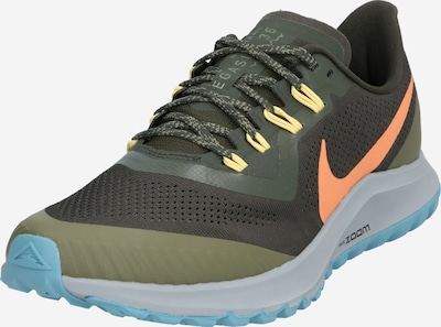 NIKE Laufschuh 'AIR ZOOM PEGASUS 36 TRAIL' in blau / oliv / orange, Produktansicht
