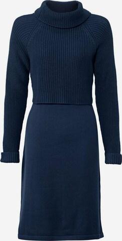 heine Kootud kleit, värv sinine