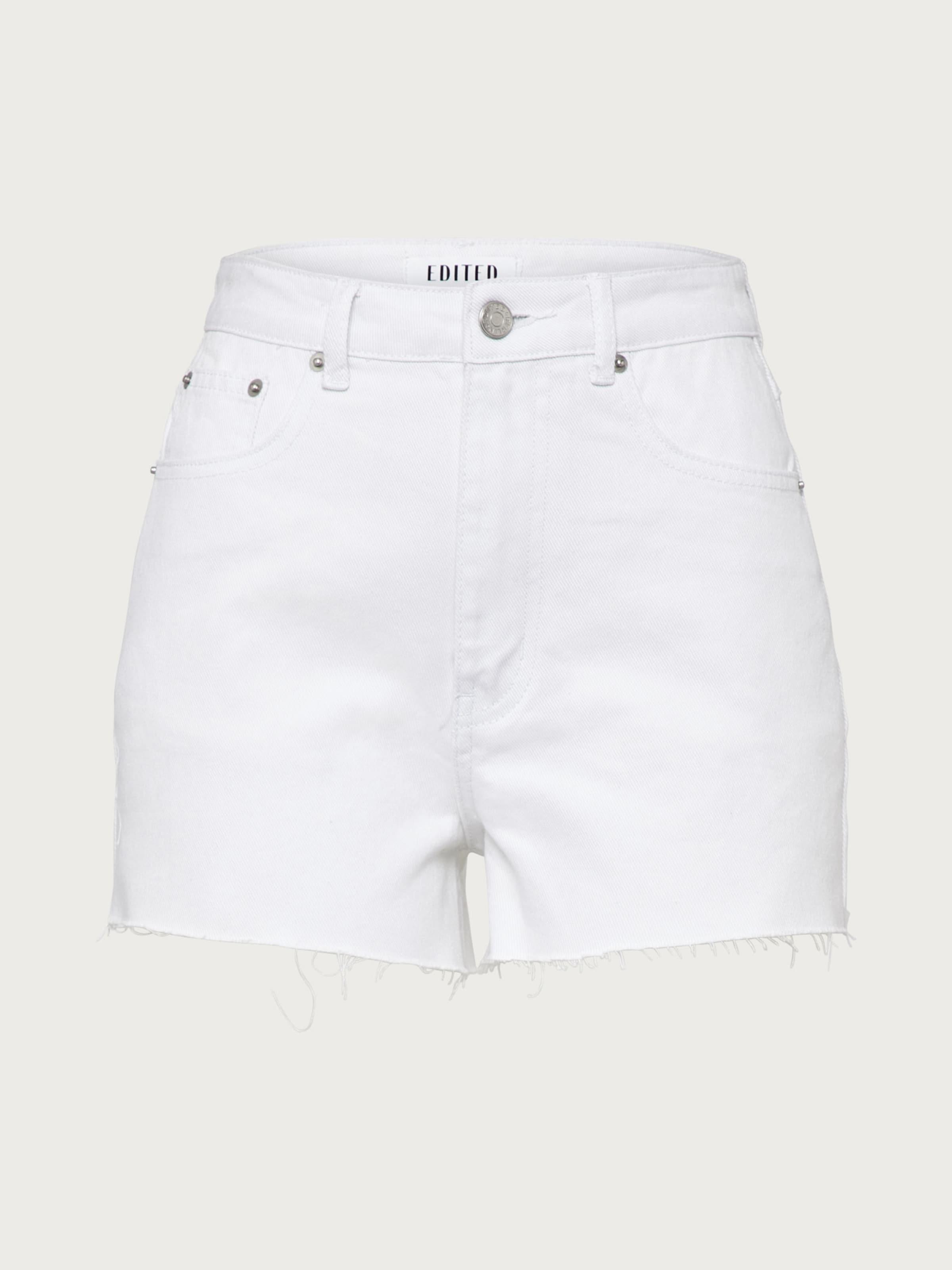 Edited In Shorts White Denim 'selia' f6yYb7g