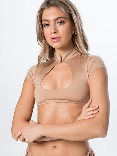 Frankies Bikinis Bikinitop 'LEIGH' in beige, Modelansicht