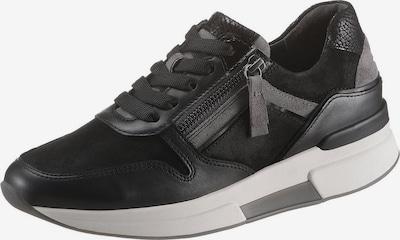 GABOR Sneaker in silbergrau / blutrot / schwarz / weiß, Produktansicht