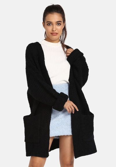 MYMO Strickjacke in schwarz, Modelansicht