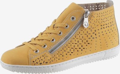 RIEKER Lace-up shoe in mustard / silver, Item view