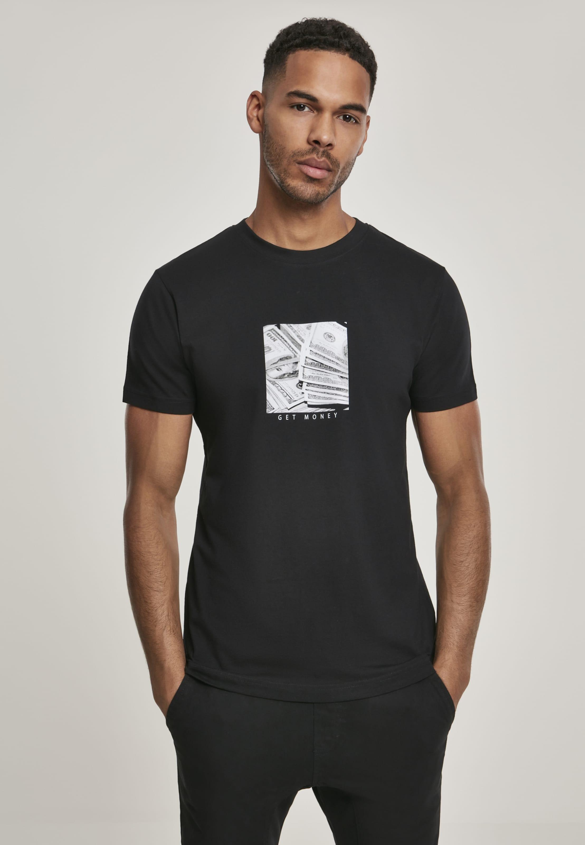 Mister Tee T-Shirt 'Get Money' in schwarz / weiß Jersey MT973-00007-0042