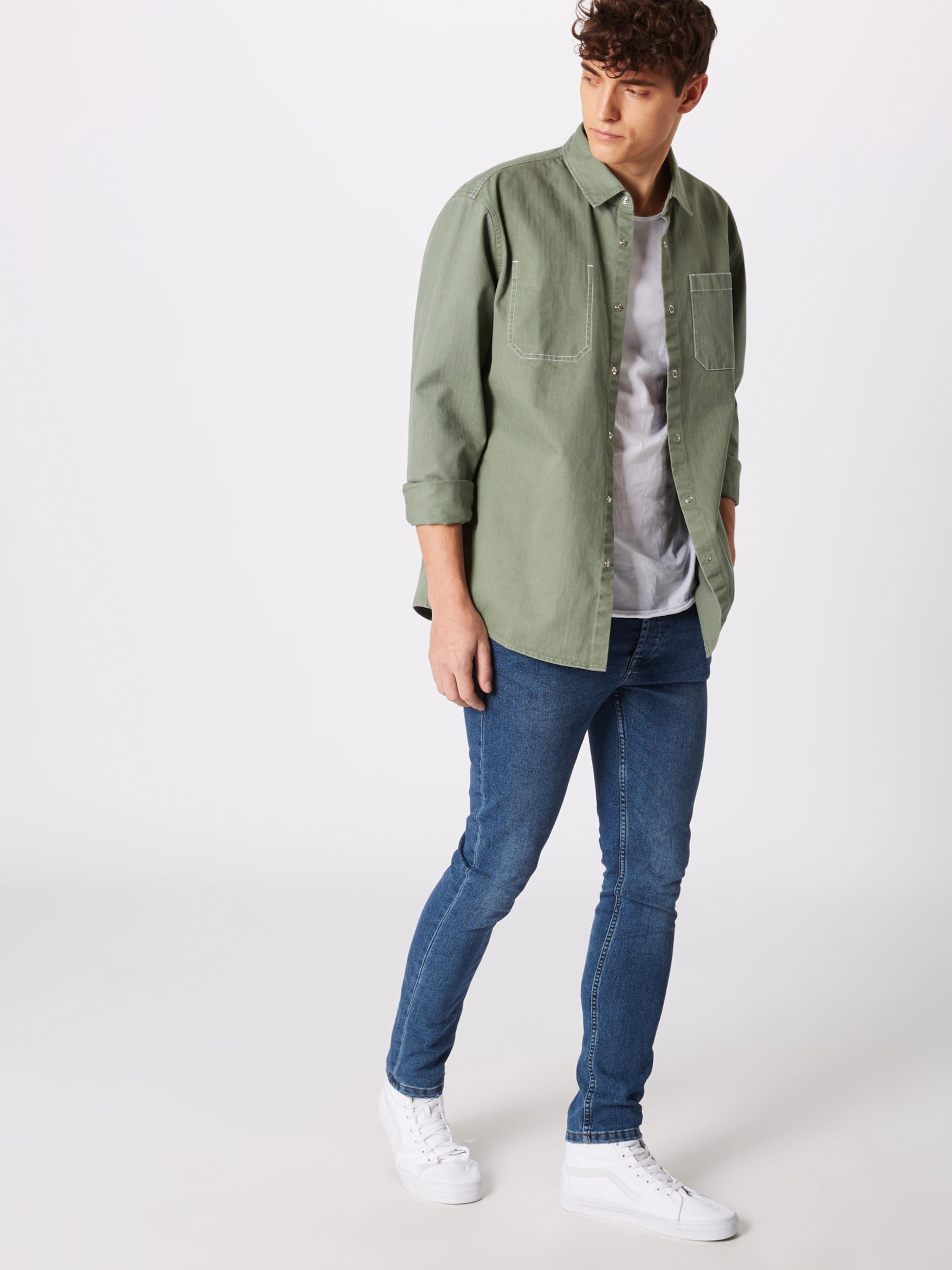 Dunkelgrün Hemd 'worker In Review Shirt' If6Yb7gyv