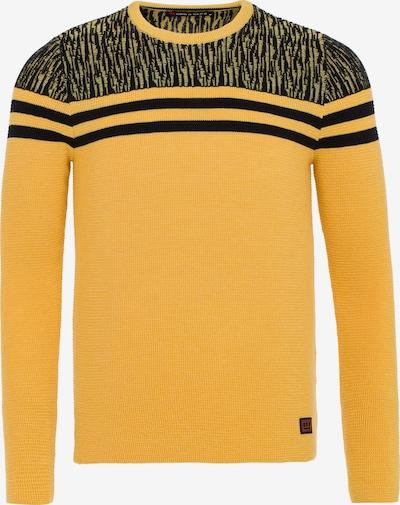 CIPO & BAXX Pullover in honig / schwarz: Frontalansicht