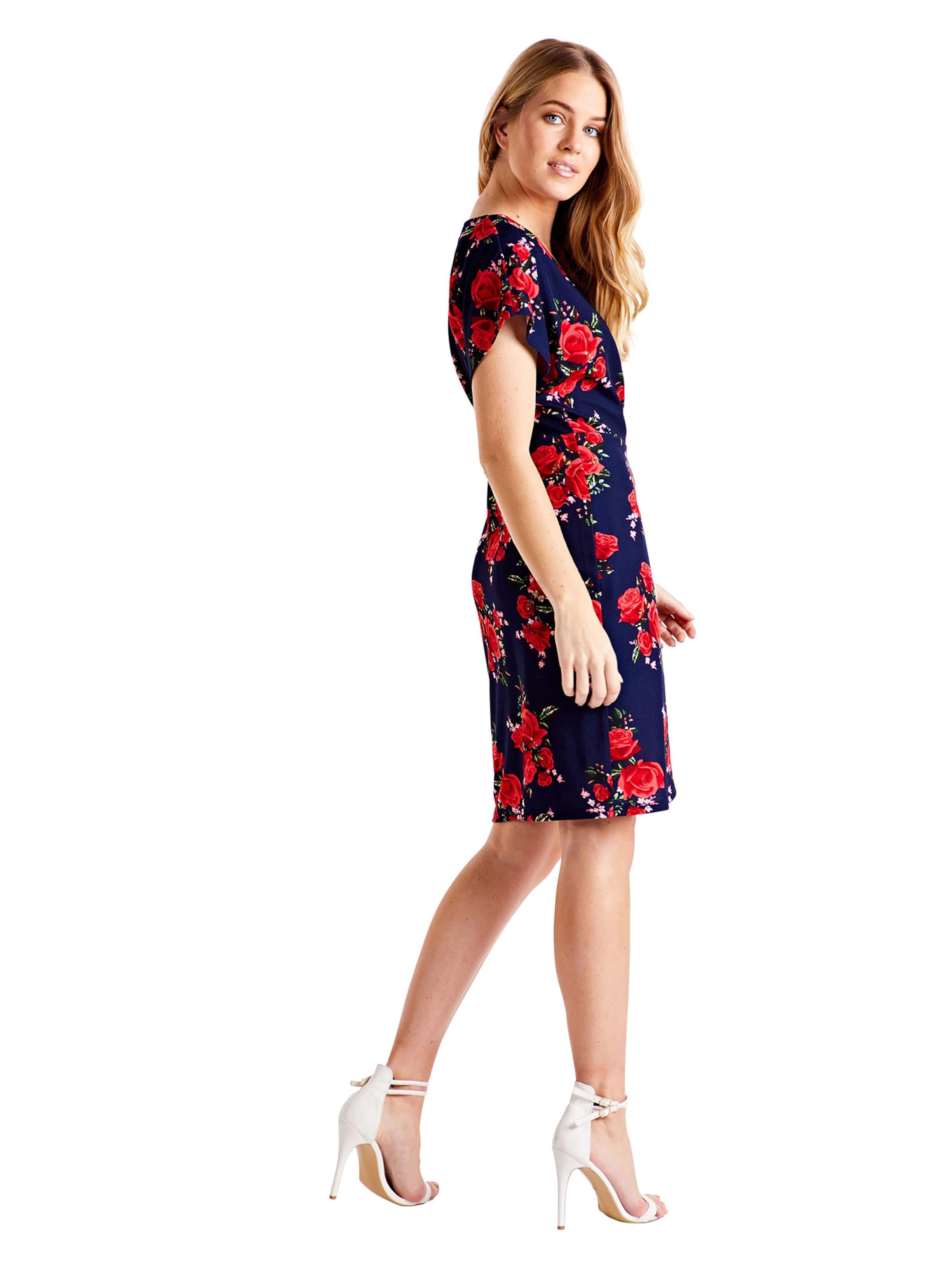London Bleu Dress' MarineRouge 'wrap Mela Effect En D'été Robe 435jRLA