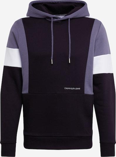 Bluză de molton 'COLOR BLOCK HOODIE' Calvin Klein Jeans pe gri / negru / alb, Vizualizare produs