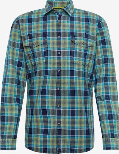 CAMEL ACTIVE Hemd in navy / hellblau / gelb, Produktansicht