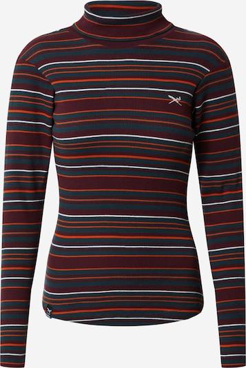 Iriedaily Majica 'Boerke Mockneck' u siva / tamno narančasta / bordo / bijela, Pregled proizvoda