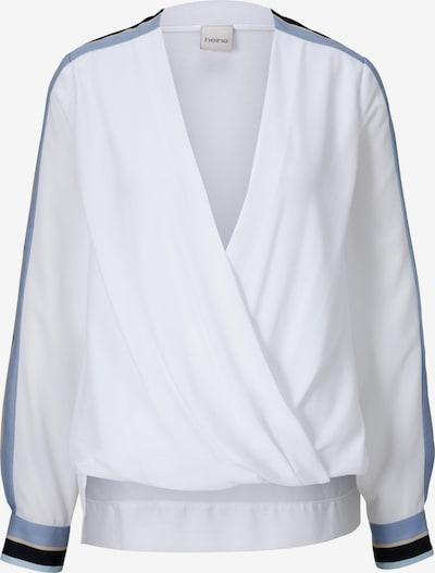 heine Bluse in taubenblau / weiß, Produktansicht