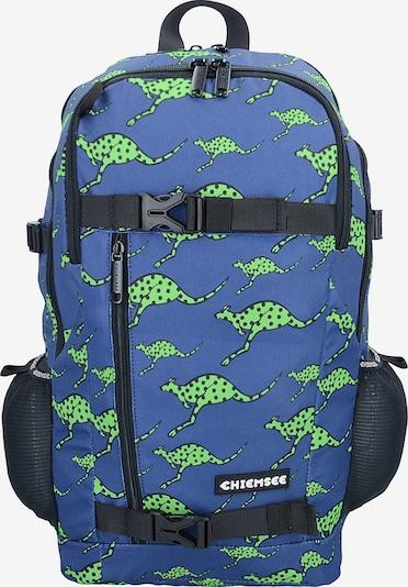 CHIEMSEE Rucksack in blau / neongrün, Produktansicht