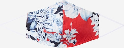 Rich & Royal Stoffen mondkapje 'Reversible' in de kleur Lichtblauw / Donkerblauw / Rood, Productweergave