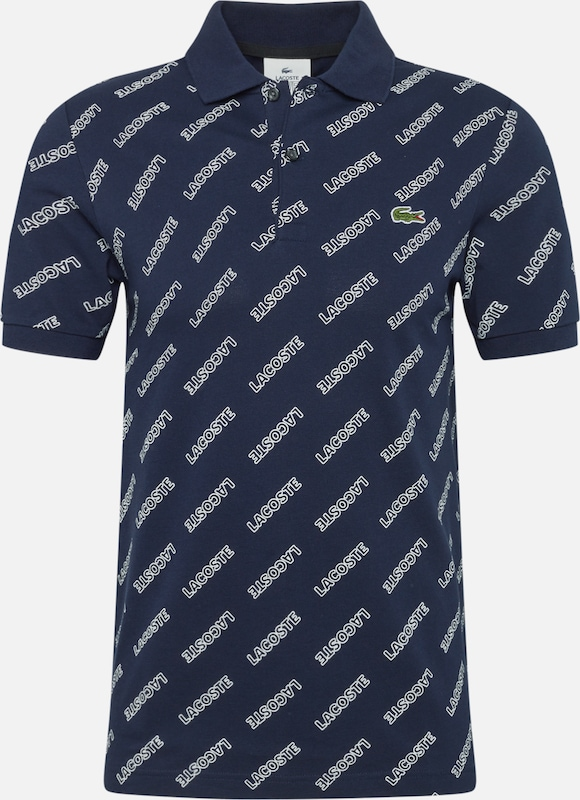 Lacoste LIVE Poloshirt 'CHEMISE COL BORD-COTES MA' in marine / weiß, Produktansicht