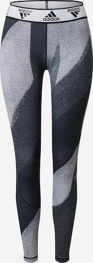 Pantaloni sport 'Alphaskin Q1' ADIDAS PERFORMANCE pe gri / negru / alb, Vizualizare produs