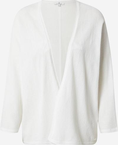 TOM TAILOR Cardigan en blanc, Vue avec produit