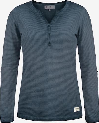 Desires Langarmshirt 'Karina' in blau: Frontalansicht