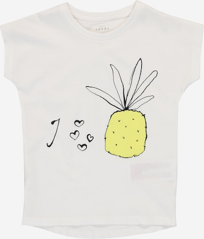NAME IT T-Shirt 'VIGEA' en jaune / blanc: Vue de face