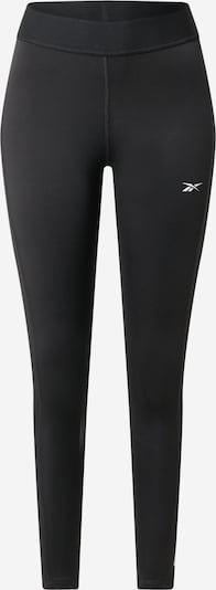 Pantaloni sport 'TE Linear' REEBOK pe negru / alb, Vizualizare produs