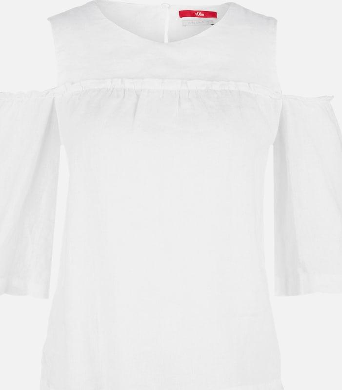 S.Oliver rot LABEL Blause in weiß  Mode neue Kleidung