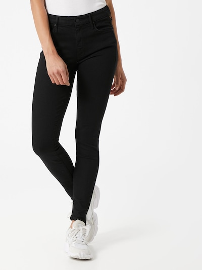 MOTHER Jeans 'The Looker' in black denim, Modelansicht